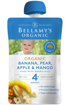 Banana, Pear, Apple & Mango